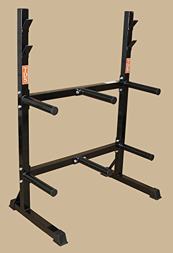 TDS Front Loading Rack for Rubber & Iron Olympic Plates by TDS