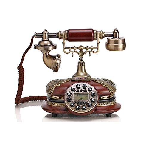 Home Decoration Caller Id Antique Telephone Automatic IP Function Classical Telephone Creative Phone Call Landline Antique Phone from Cacoffay