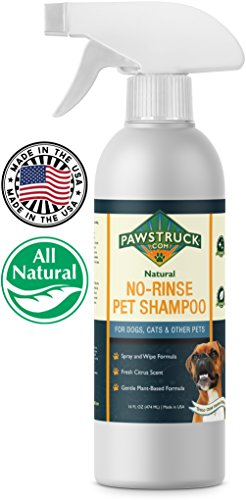 mpoo for Dogs, Cats, Puppies, Kittens & Other Pets (16 fl oz) Natural & Made in USA Waterless Rinseless Deodorizing Citrus Spray to Clean, Bathe, Freshen & Remove Odors (Paws Dog Shampoo)