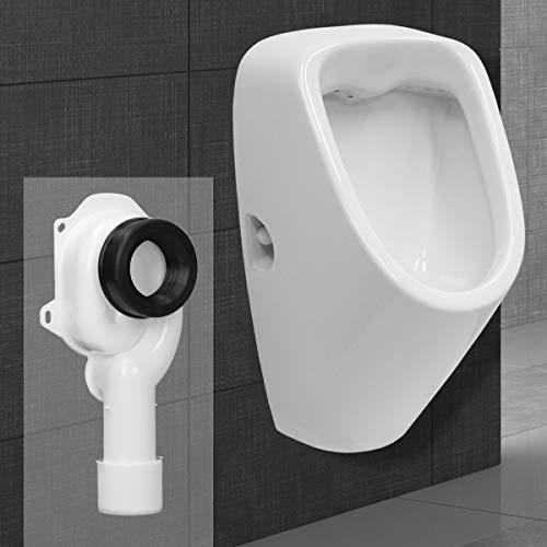 ECD Germany Urinoir met inlaat van achteren + aanzuigsifon 50 mm DN40 / 50 met dichting, toileturinoiruitlaat aan de…