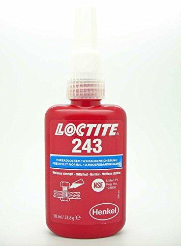 243 Threadlocker - Genuine LOCTITE 243 x 50ml Medium Strength Oil Tolerant Threadlocker
