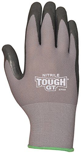 - Bellingham C3702M Tough GT Work Gloves Breathable Micro Foam Nitrile Palm and Fingertips, Medium, Medium