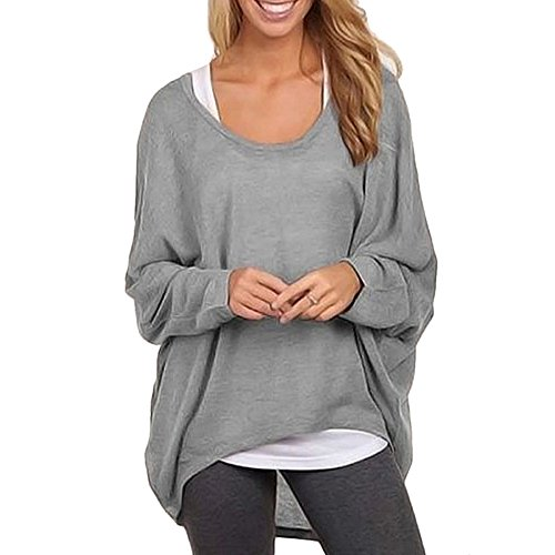 multicolor Amison Bouffant maglione Huge Camicetta lunga donna Large grigio Manica FOS0A0n