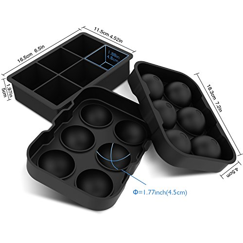 FDA Approved iReetoul Pack of 8 Stainless Steel Ice Cubes,Reusable Chilling Whiskey Stones with Freezing Tray /& Tongs