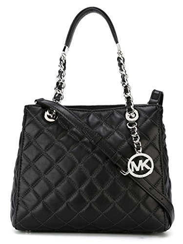 michael kors black quilted bag - 1