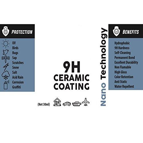 30ML High Gloss Ceramic Car Coating Kit Anti Scratch Exterior Care Paint Sealant 9H Hardness