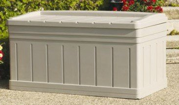 Deck Box Patio Storage -129 Gal, Resin, Light Taupe by Deck Box