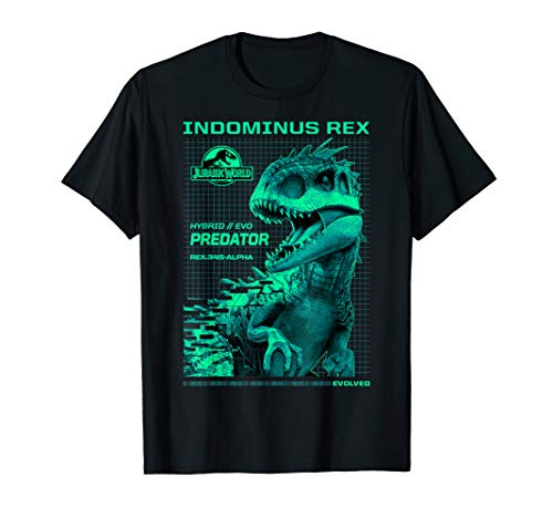 (Jurassic World Indominus Rex Hybrid Predator Graphic T-Shirt)