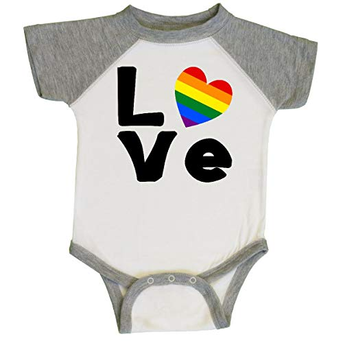 inktastic - Gay Love Black Infant Creeper 12 Months White and Heather f83d
