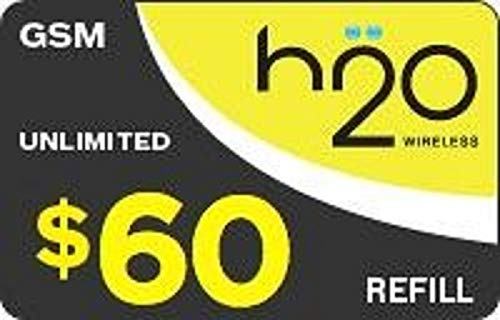 H2o WIRELESS REFILL FOR THE MONTHLY UNLIMITED PLAN -