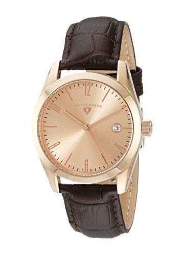 Swiss Legend Men's 22038-RG-09-BRWS Peninsula Analog Display Swiss Quartz Brown Watch - Swiss Legend Rose Gold Tone Watch