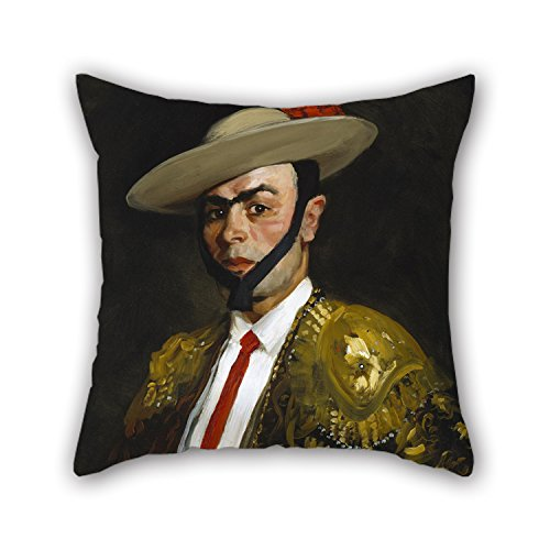 Oil Painting Robert Henri - Calero (Antonio Baños) Throw Cushion Covers 20 X 20 Inches / 50 By 50 Cm For Drawing Room,family,girls,bench,wedding,family With Double Sides Calero Cover