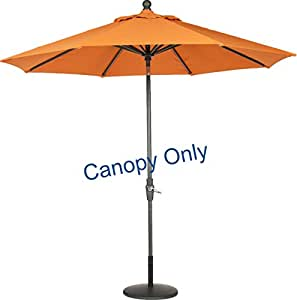 sunbrella canopy replacement for 9ft 8 ribs patio umbrella tuscan canopy only. Black Bedroom Furniture Sets. Home Design Ideas