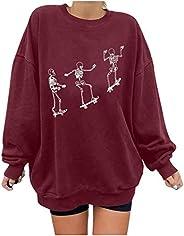 Women Vintage Sun Print Sweatshirt Long Sleeve O-Neck Pullover Casual Loose Warm Tops Blouse