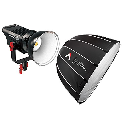 Aputure LS COB 120d LED Video Light 6000K Continuous Lighting Smart Temperature Control Ultra-Silence and Aputure Light Dome Parabolic Light-Reflecting Softbox with Diffuser Both Bowens Mount