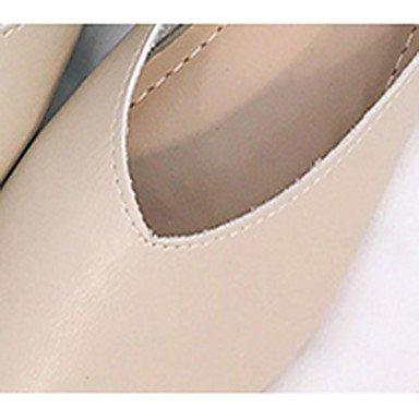 Sandalias De Mujer María Luz Soles Pu Vestimenta Casual De Verano Caminando María Luz Suelas Planas Hebilla Talón Plano En Blanco Y Negro US6 / EU36 / UK4 / CN36