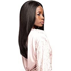 X-TRESS Straight Lace Front Wigs With Baby Hair20 Inch Dark Brown Wigs Synthetic Heat Resistant Glueless Medium Long Straight Fiber Hair Wigs For Women Natural Color (2 Dark Brown)