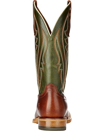 Ariat Hombres Match Up Western Bota Cowboy Cognac / Neon Lime