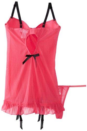 Dreamgirl Women's Starlet Satin Garter Slip with Thong