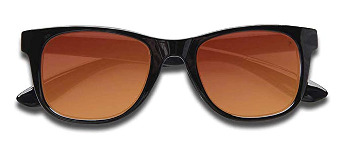 KZ ユニセックスアダルト  Glossy Black Frame - Full Revo Red Lens B07DKX4JGV