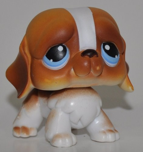 St. Bernard #76 (Blue Eyes) - Littlest Pet Shop (Retired) Collector Toy - LPS Collectible Replacement Single Figure - Loose (OOP Out of Package & Print)