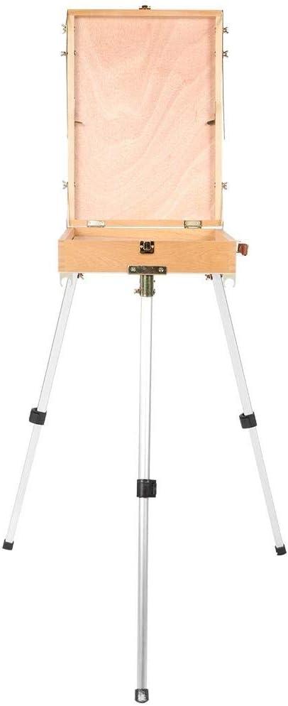 Base de caballete, caja de dibujo de madera plegable portátil para ...