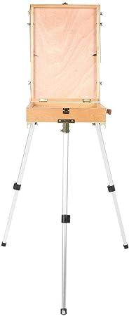 Base de caballete, caja de dibujo de madera plegable portátil para dibujar con patas de aluminio