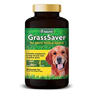 NaturVet – GrassSaver Supplement for Dogs – Healthy Supplement to Help Rid Your Lawn of Yellow Spots – Synergistic Combination of B-Complex Vitamins & Amino Acids – 500 Tablets