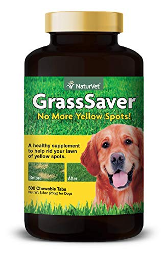 NaturVet - GrassSaver Supplement for Dogs - Healthy Supplement to Help Rid Your Lawn of Yellow Spots - Synergistic Combination of B-Complex Vitamins & Amino Acids - 500 Tablets