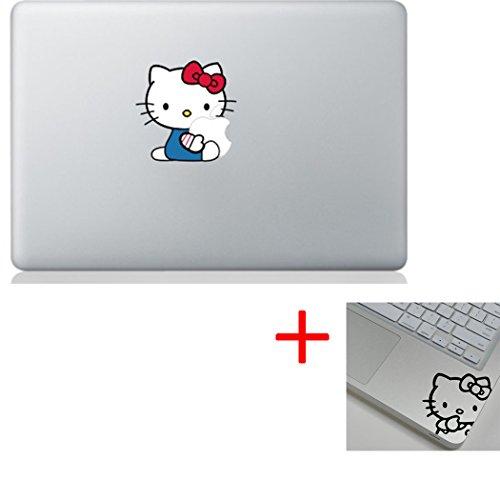 Hello Kitty Hugging + Wrist Sticker Macbook Decal Stickers- Fit 13 15 17 BUY 2 Get 1 Free Sticker (Hello Kitty, Hello Kitty (Macbook Pro 13 Decal Hello Kitty)