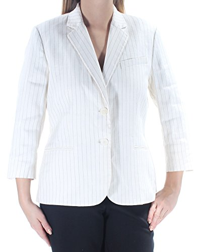 Ralph Lauren $295 Womens New 1650 Ivory Pinstripe Blazer Career Jacket 4 B+B -