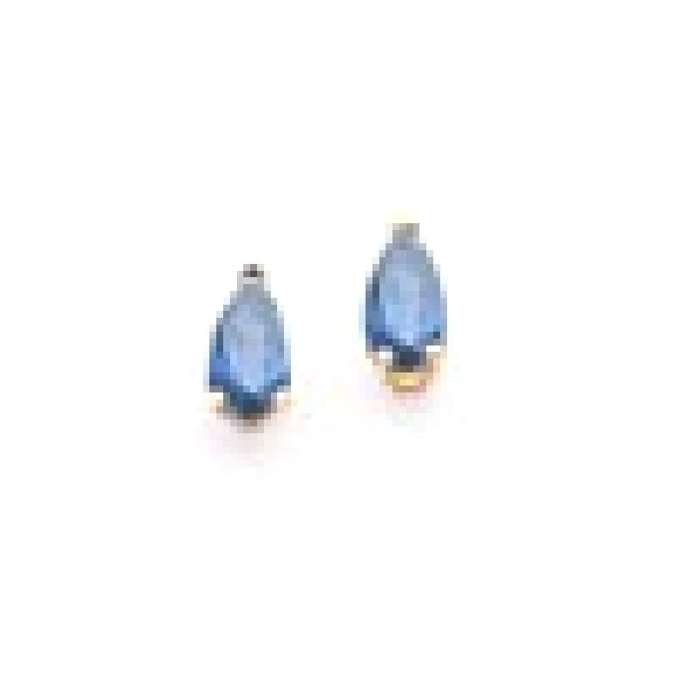 ICE CARATS 14k Yellow Gold Sapphire Post Stud Ball Button Earrings Gemstone Fine Jewelry Gift Set For Women Heart