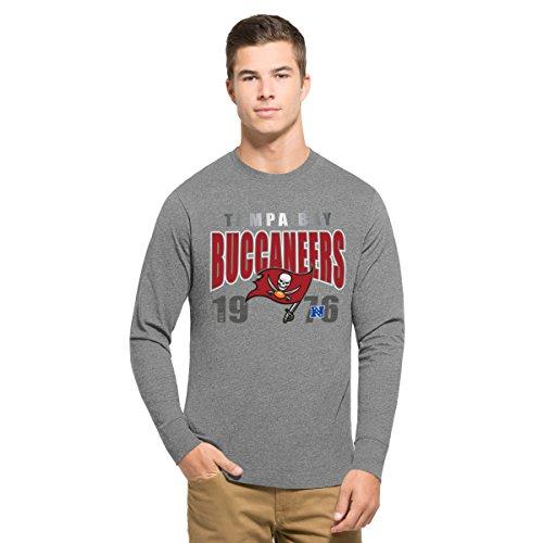 - '47 NFL Tampa Bay Buccaneers Men's Club Long Sleeve Tee, Medium, Slate Grey