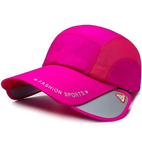 - Baseball Caps Spring and Summer Men's, Telescopic Cap Adjustable Size Code Twill Face Sunshade Outdoor Sports Breathable Quick-Drying Ladies Cap,Rose