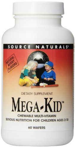 - Source Naturals Mega-Kid Chewable Multi-Vitamin, 60 Wafers