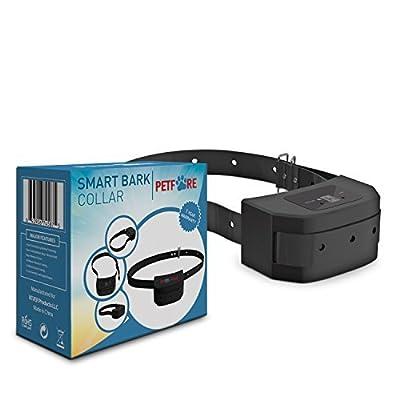 Petfore - 9 Adjustable Levels Bark Collar Dog Training System with Digital Display Sensitivity Control Electric Anti Bark Shock Collar with Manual