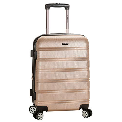 (Rockland Luggage Melbourne 20 Inch Expandable Carry On, Champagne, One Size)
