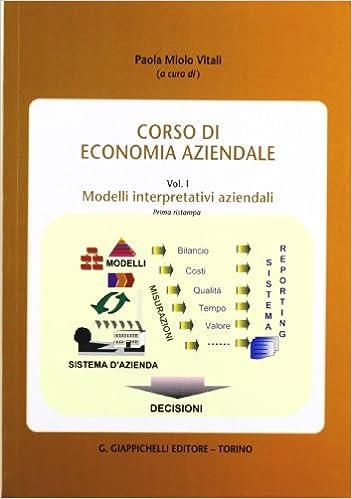 Book Corso di economia aziendale vol. 1 - Modelli interpretativi aziendali