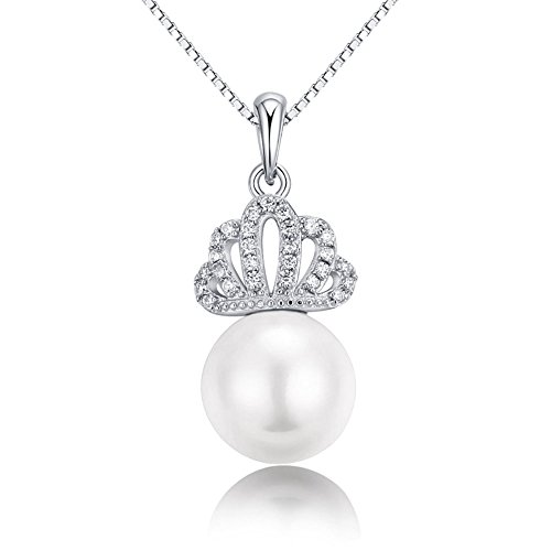 925 Sterling Silver Necklace Crown Pendant lady's fine jewellery (...) - 4