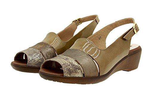 Femme Sandale Visón Amples Confortables Cuir Piesanto 8554 Confort Lizard En Chaussure pqPxdYY
