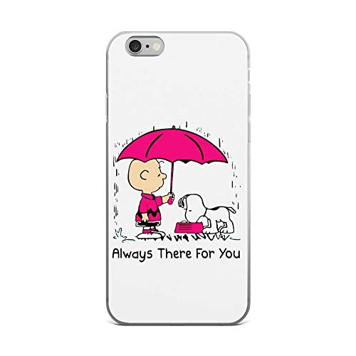 iPhone 6 Plus/6s Plus Pure Anti Shock Clear Case Cute Peanuts Charlie Brown and Snoopy Always There for You -