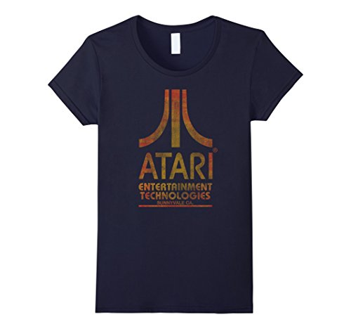 Womens Vintage Atari Entertainment Technologies Distressed T-Shirt in 5 Colors