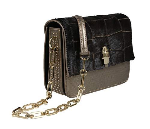 Roberto Cavalli HXLPG6 025 Brown Shoulder Bag for Womens (Coin Roberto Inspired)