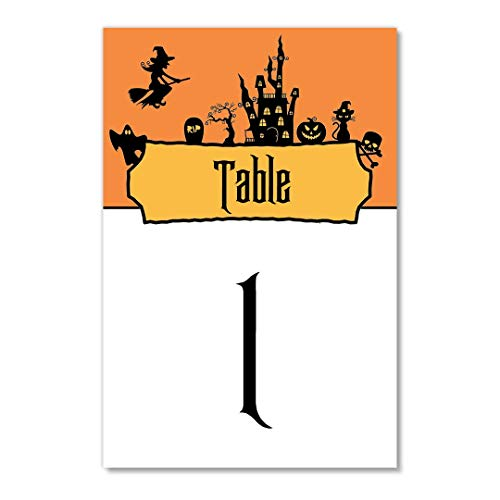 (Halloween Table Numbers 25 Pack Single Sided 4