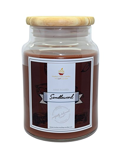Strong Scented Sandalwood Soy Candle 26oz By Madison Valley Soy Candle Company