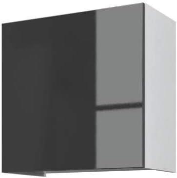2 niches IBI Caisson haut de cuisine L 40 cm 1 porte Blanc laque