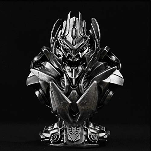 Resin Model Anime - Qivor Transformers 4 Megatron Chest Statue Imitation Copper Imitation Iron GK Resin Model Statue Anime Ornament 21cm