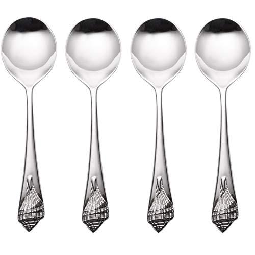 (Reed & Barton Sea Shells 18/10 Stainless Round Soup/Bouillon Spoon (Set of Four))