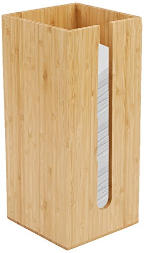 Mind Reader Bamboo Table Napkin Holder Organizer, - Napkin Organizer