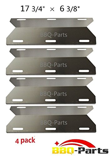 Hongso SPA231 (4-pack) Stainless Steel BBQ Gas Grill Heat Plate, Heat Shield, Heat Tent, Burner Cover, Vaporizor Bar, and Flavorizer Bar for Costco Kirland, Glen Canyon, Jenn-air, Nexgrill, Sterling Forge, Lowes (17 3/4